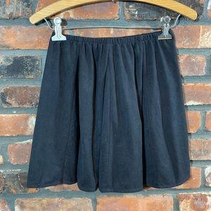 Brandy Melville Black Faux Suede Skater Skirt